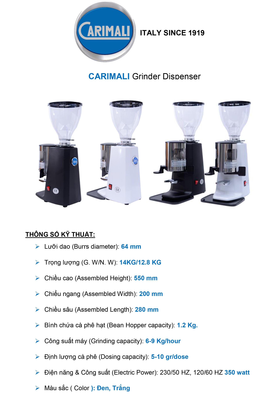 máy xay cà phê carimali