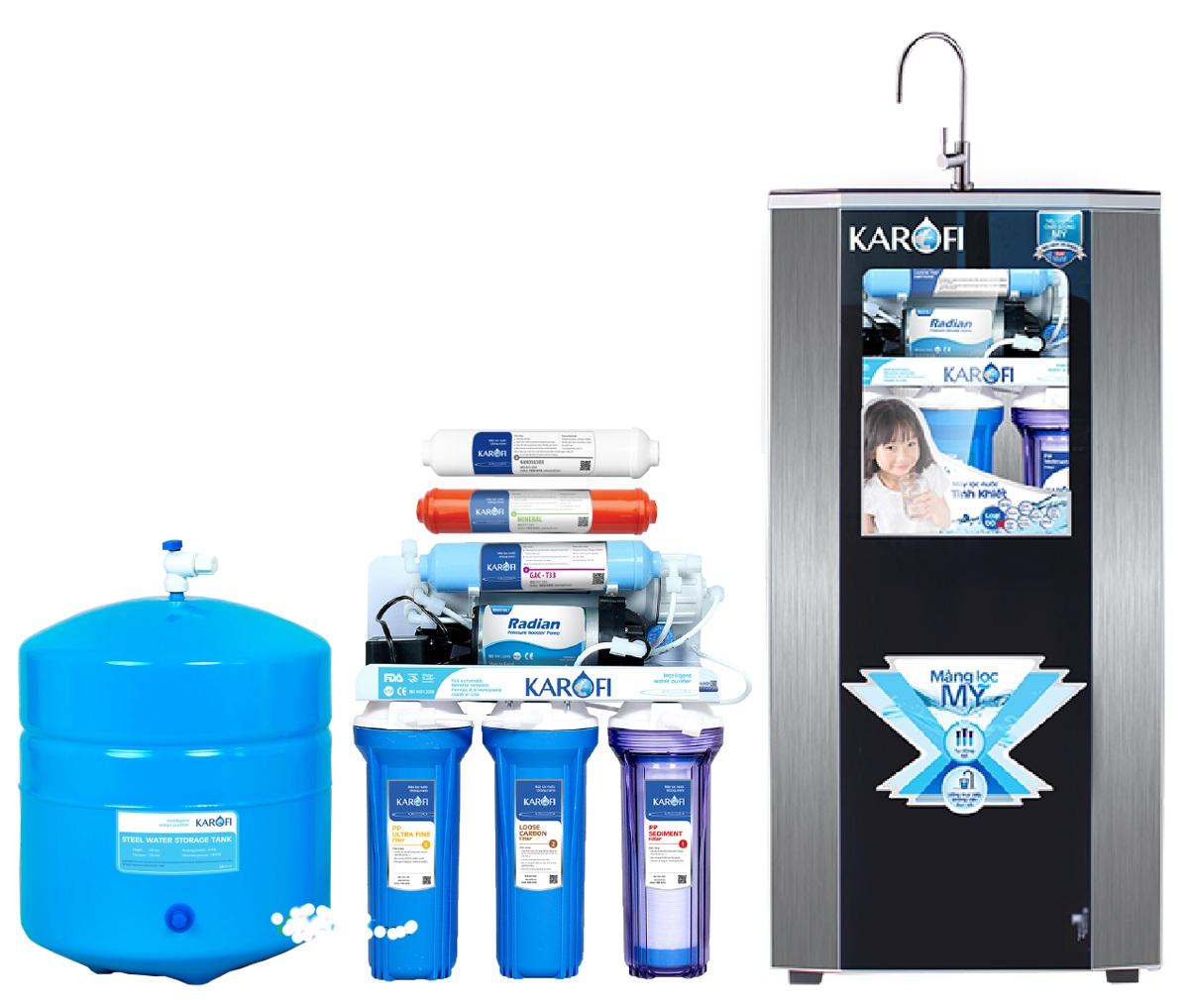 Máy lọc nước RO Karofi 9 lõi lọc KT90