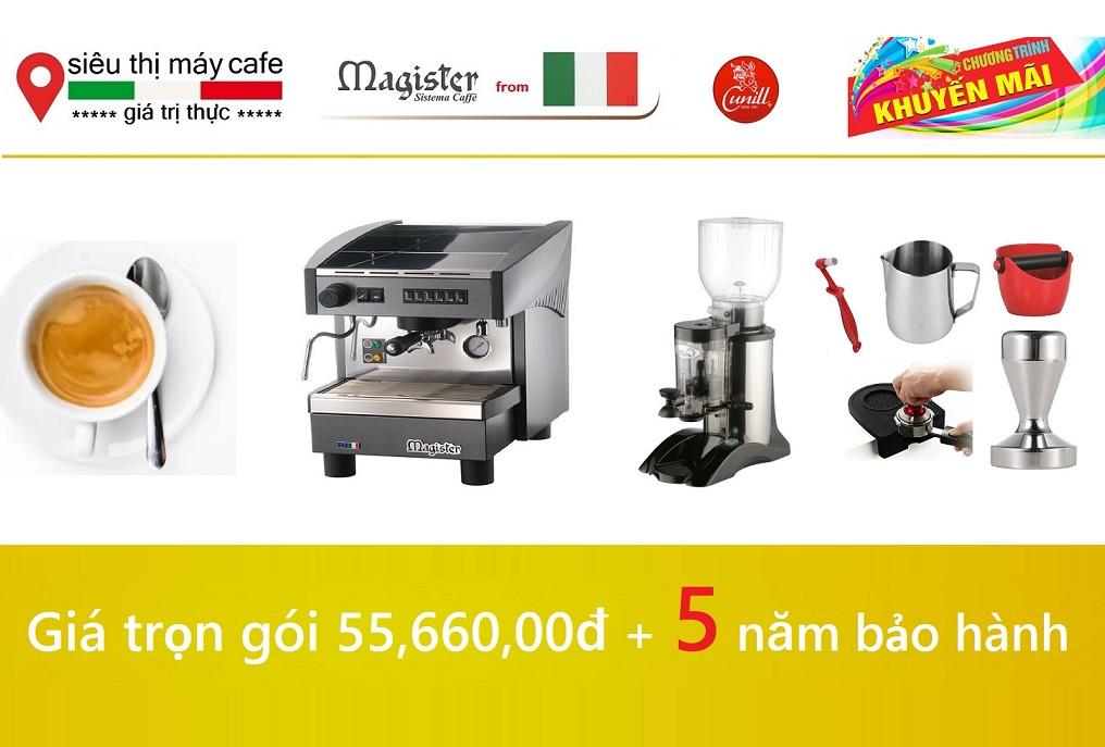 Combo Máy cafe Magister và Cunill